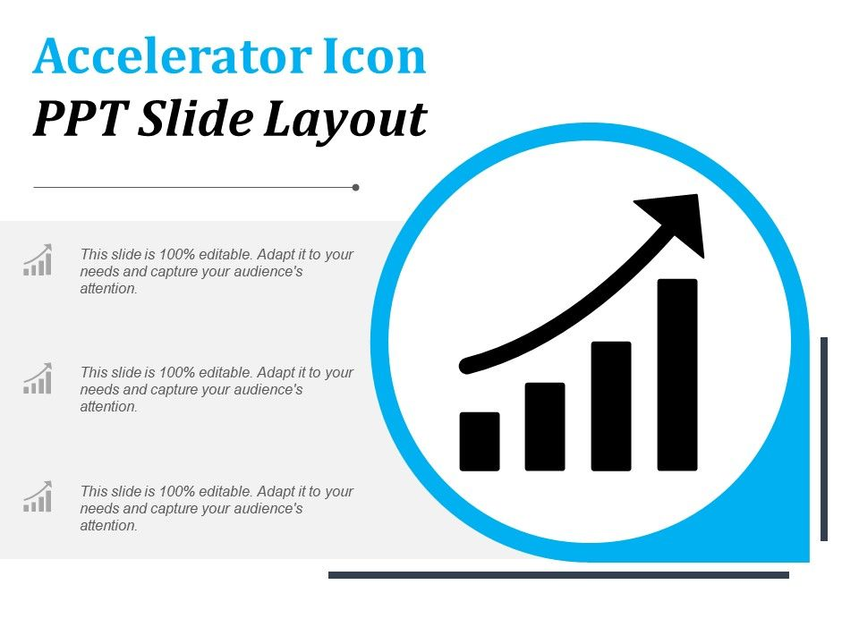 Accelerator Icon Ppt Slide Layout Template Presentation