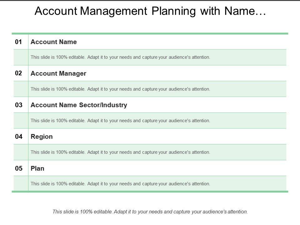 Account Plan Template from www.slideteam.net