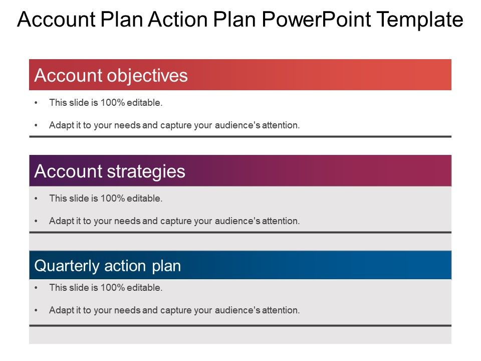 Account Plan Action Plan Powerpoint Template  Powerpoint Templates