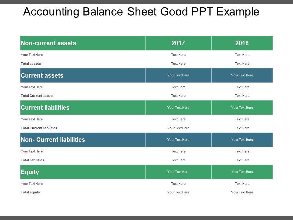 Checking Account Balance Sheet Template from www.slideteam.net