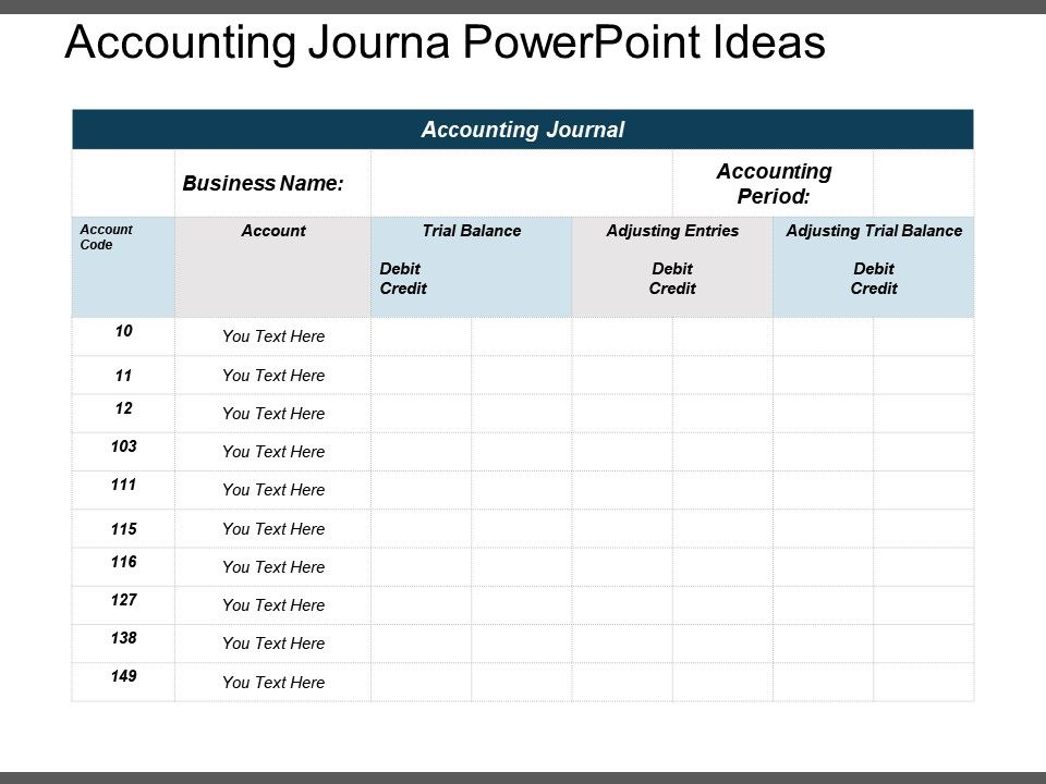 Accounting Journal Powerpoint Ideas Powerpoint Shapes