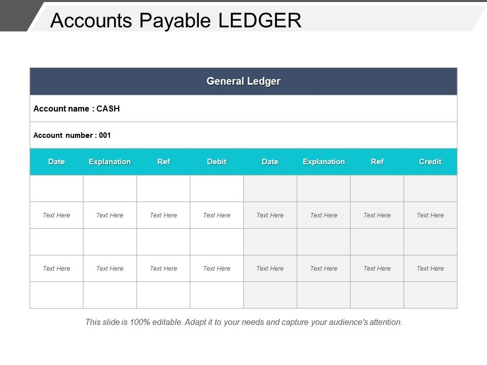 accounts payable ledger powerpoint slide background powerpoint