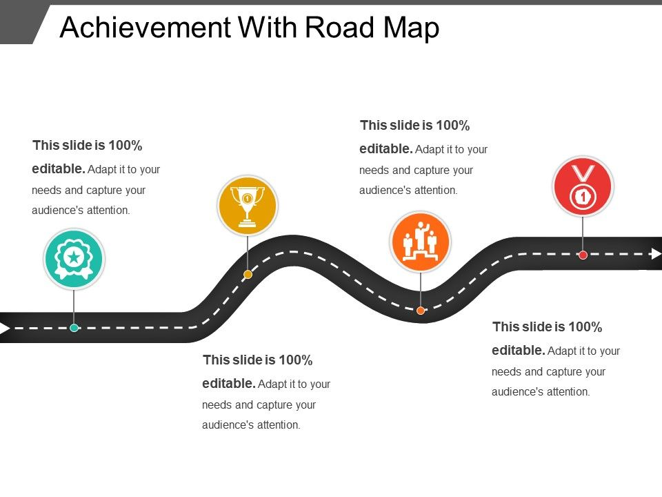 achievement with road map powerpoint layout powerpoint