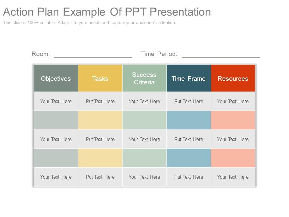 Action Plan Example Of Ppt Presentation Presentation Powerpoint