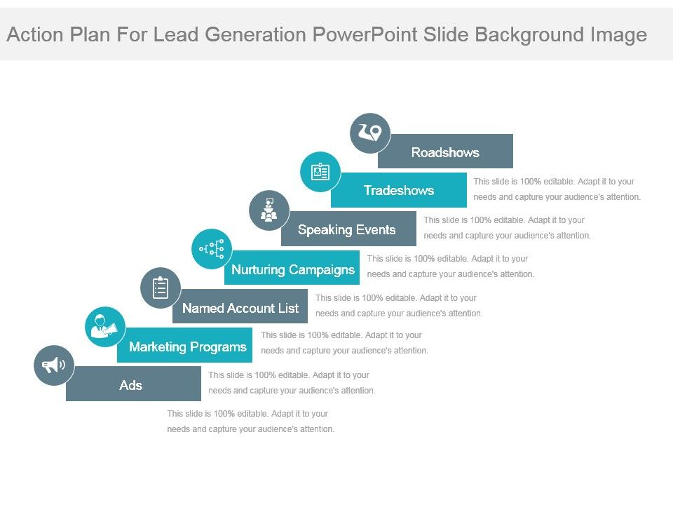 lead generation plan template - action plan for lead generation powerpoint slide