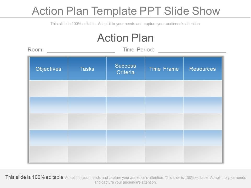 action plan template ppt slide show