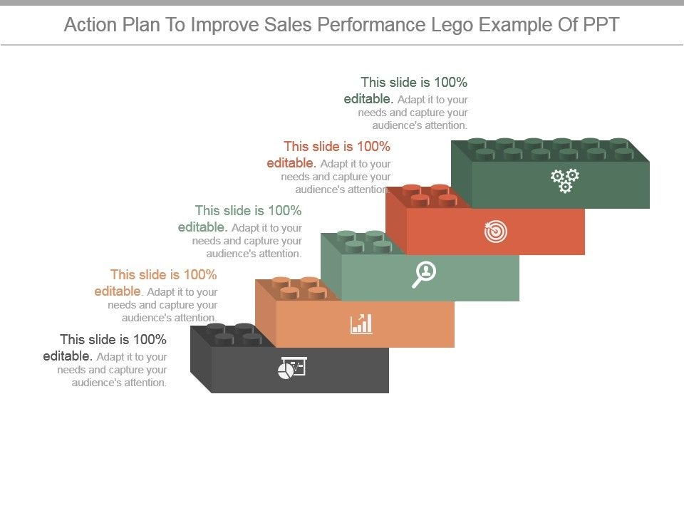 Action Plan To Improve Sales Performance Lego Example Of Ppt ...