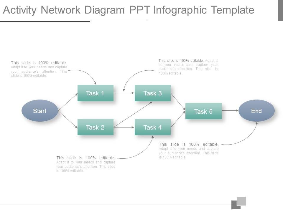12297186 style hierarchy flowchart 5 piece powerpoint for Activity network diagram template
