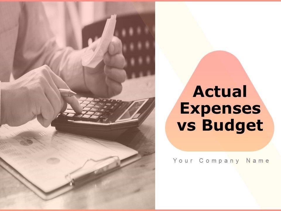 Actual Expenses Vs Budget Powerpoint Presentation Slides