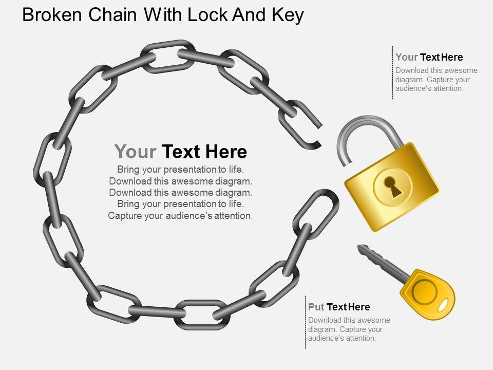 ad_broken_chain_with_lock_and_key_powerpoint_template_Slide01