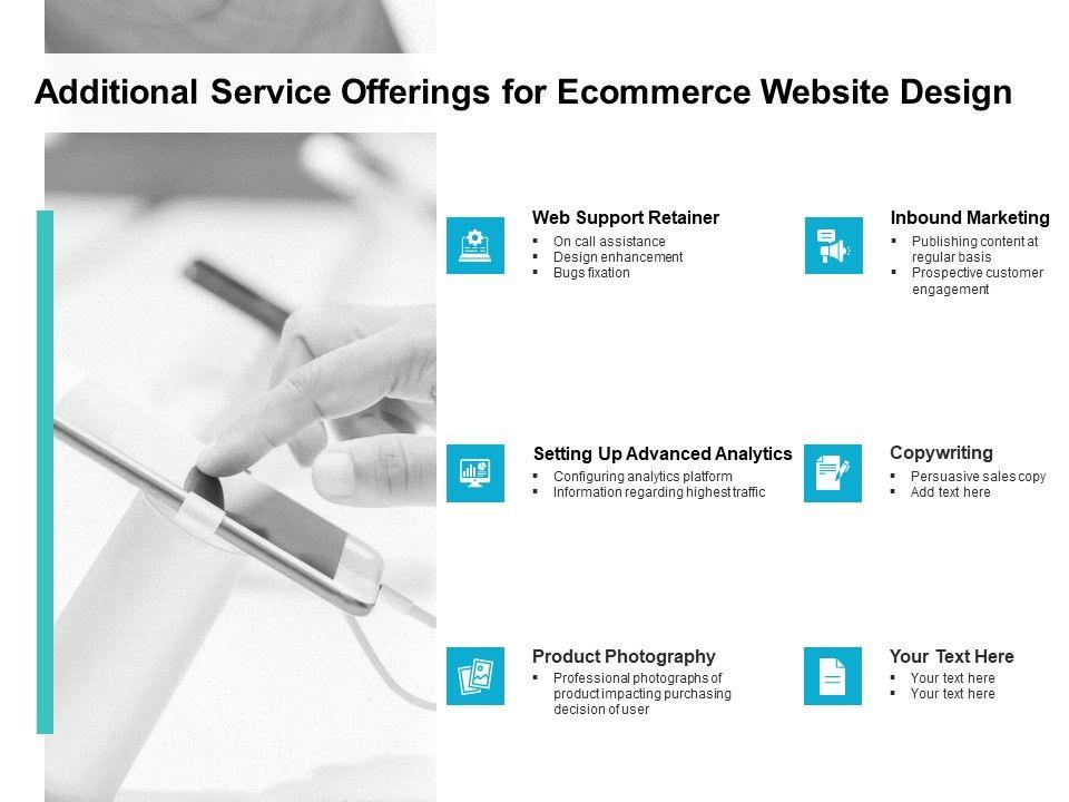 Additional Service Offerings For Ecommerce Website Design Ppt Slide
