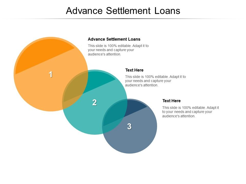 Advance Settlement Loans Ppt Powerpoint Presentation Gallery Example File Cpb