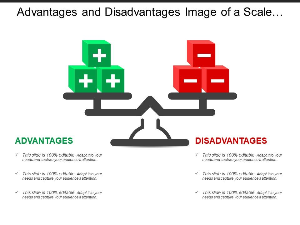 Advantages And Disadvantages Image Of A Scale With Positive