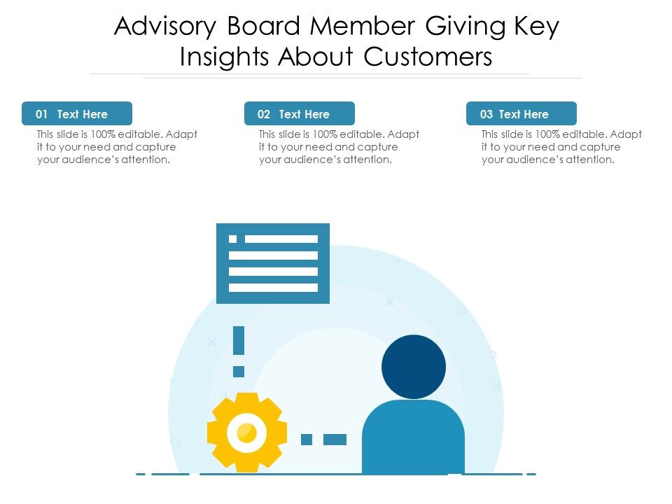Advisory Board Member Giving Key Insights About Customers