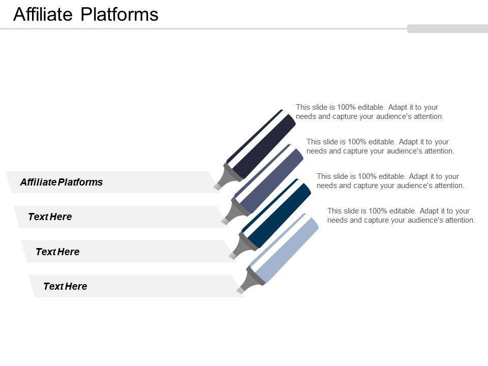 Affiliate Platforms Ppt Powerpoint Presentation File Portfolio Cpb