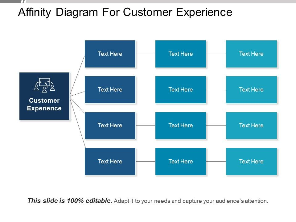 Affinity Diagram For Customer Experience Ppt Design