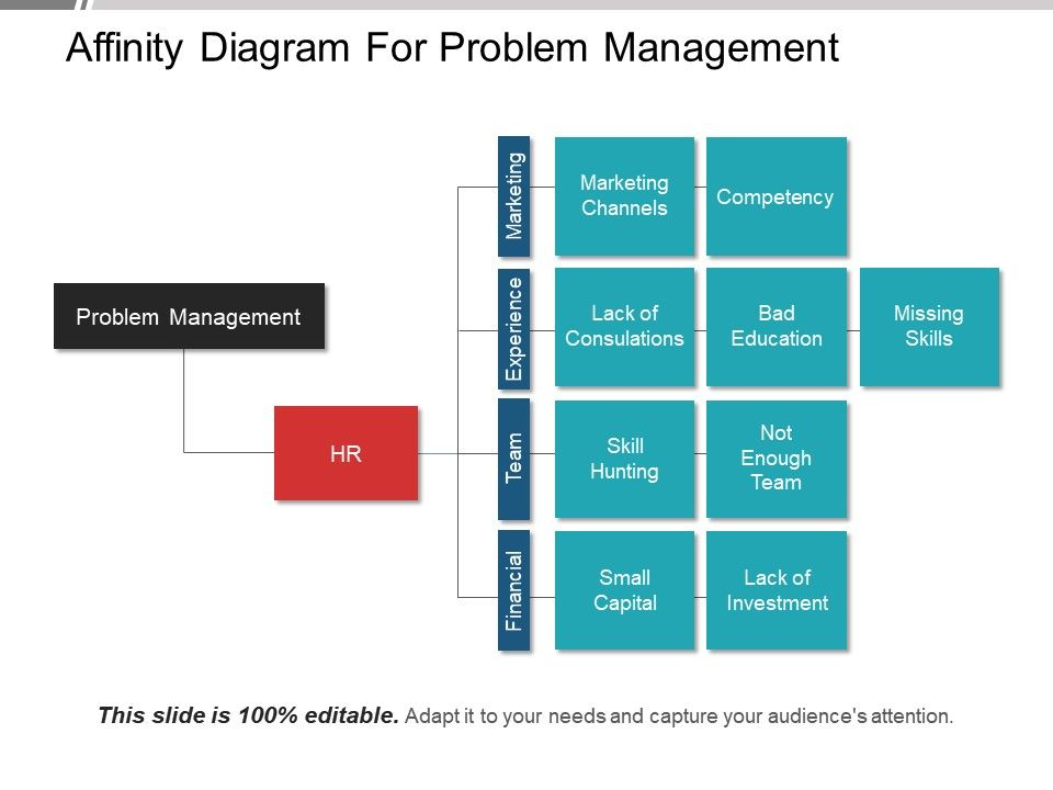 Affinity Diagram For Problem Management Ppt Example