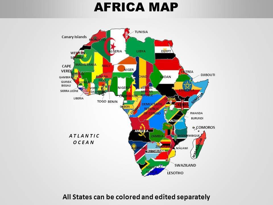 Africa Continents Powerpoint Maps Slide03 Slide04 Slide05
