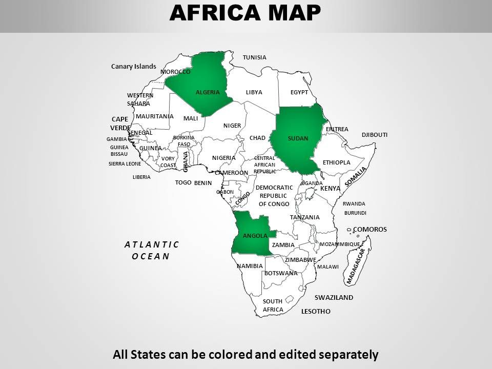 Africa Continents PowerPoint maps   PowerPoint Slides ...