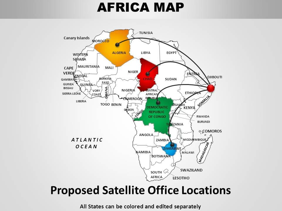 Africa Continents PowerPoint maps | Templates PowerPoint ...