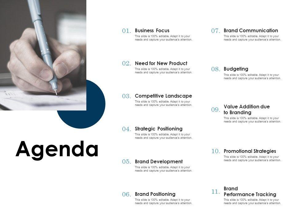 Agenda Strategic Positioning L1170 Ppt Powerpoint Presentation Template