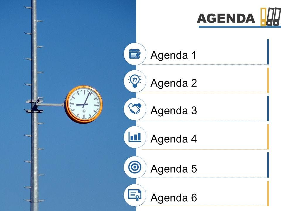 Agenda Template Slide With.  Agenda Creator