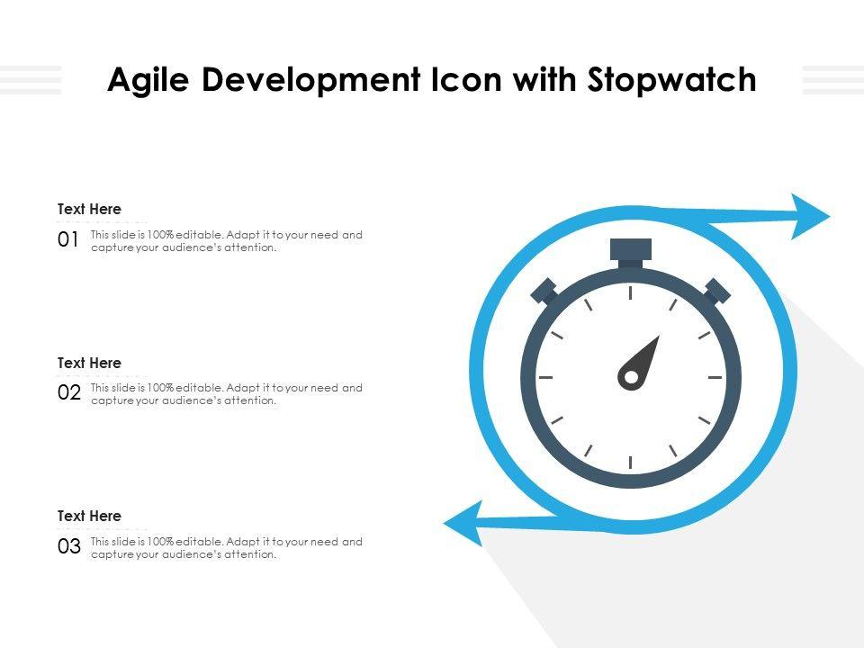 Agile Development Icon With Stopwatch
