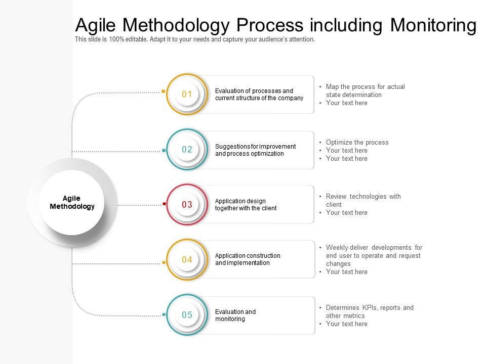 Agile Methodology Process Including Monitoring
