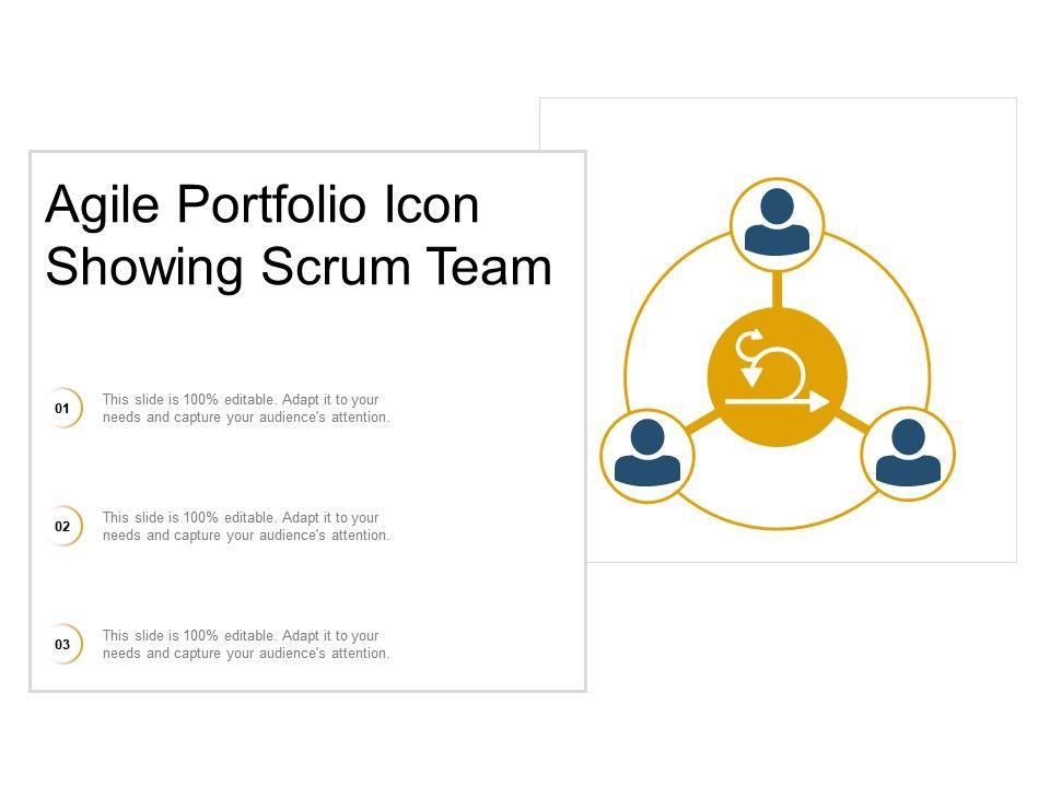 Agile Portfolio Icon Showing Scrum Team