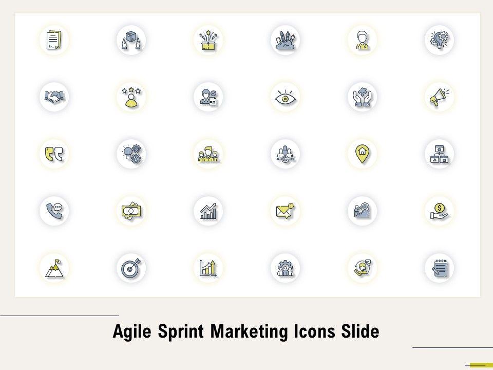 Agile Sprint Marketing Icons Slide Ppt Powerpoint Presentation Model Slideshow
