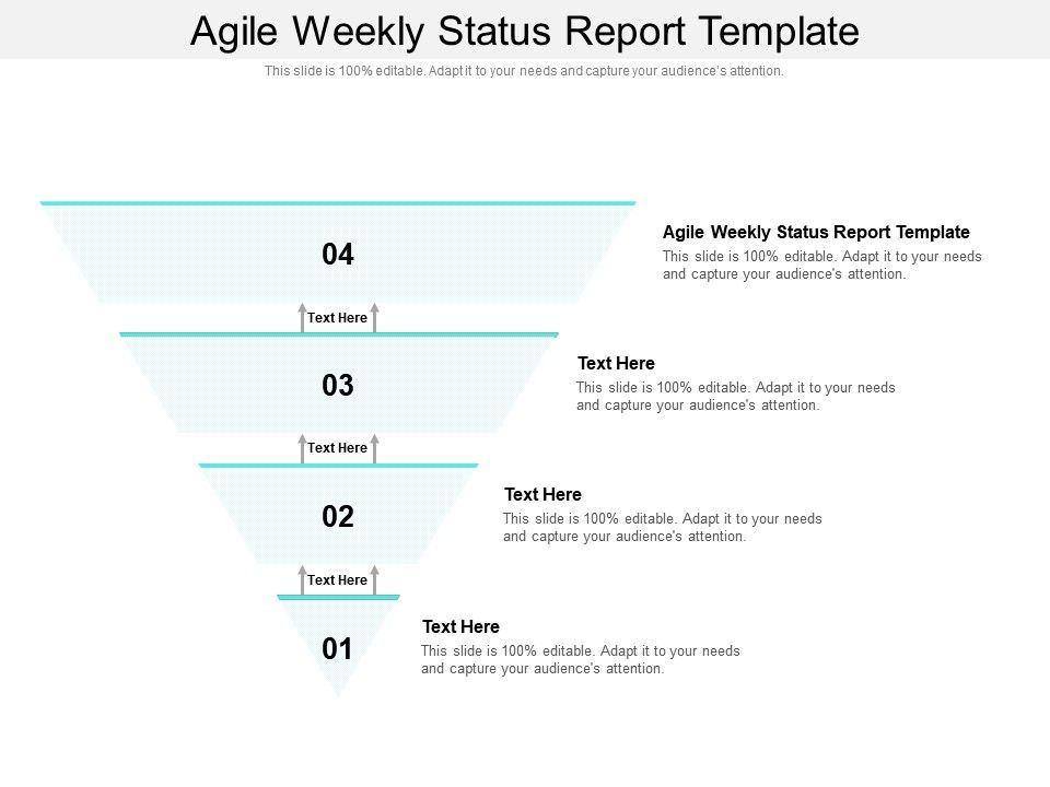 Agile Weekly Status Report Template Ppt Powerpoint Presentation Ideas Aids Cpb
