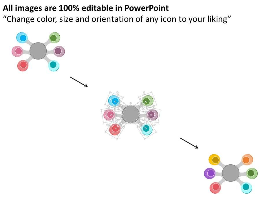 ah circle spider diagram with icons flat powerpoint design, Modern powerpoint
