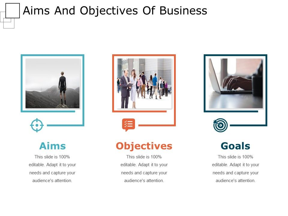aim and objectives of a business Definition of strategic objective: how effective are you at managing change in the modern business landscape, the process of successfully navigating change.
