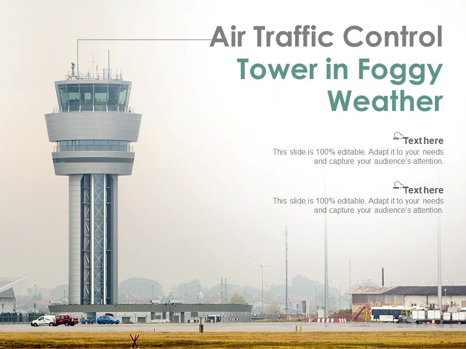 Air Traffic Control Tower In Foggy Weather
