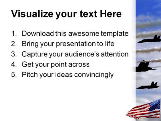 Airforce Americana PowerPoint Template 1010  Presentation Themes and Graphics Slide03