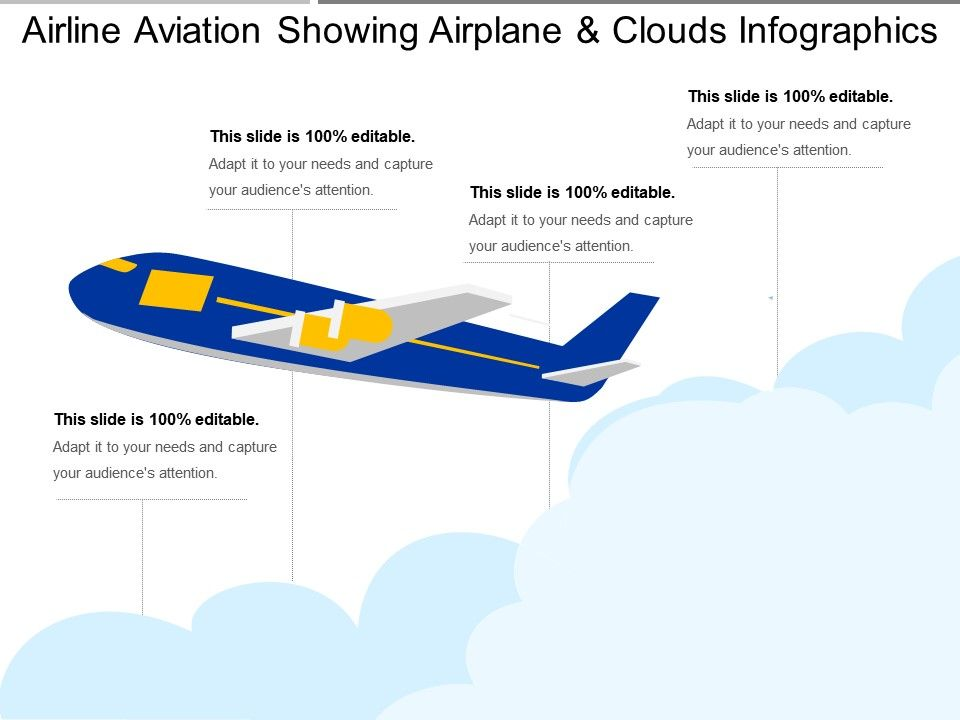 Airline Aviation Showing Airplane And Clouds Infographics