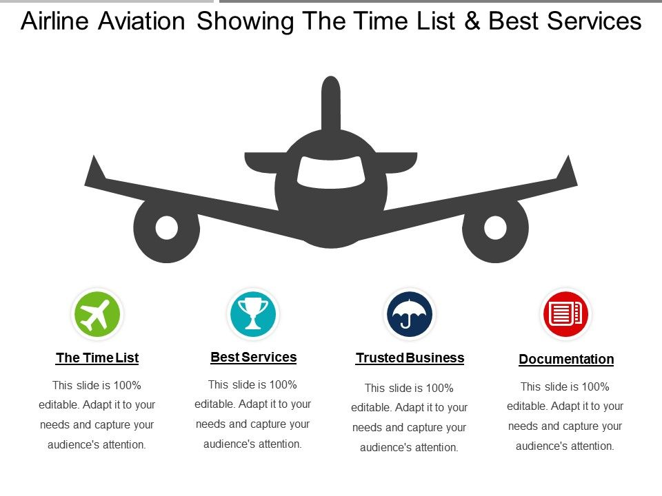 Airline Aviation Showing The Time List And Best Services