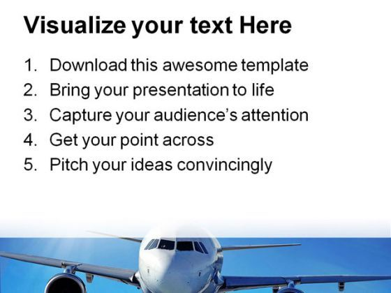 Airplane Transportation Powerpoint Templates And Powerpoint