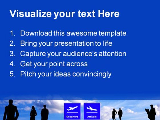 airport schedules travel powerpoint templates and powerpoint, Modern powerpoint