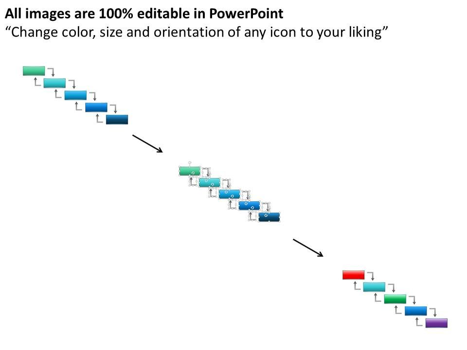 Al Development Waterfall Model With Flow Chart Powerpoint Template