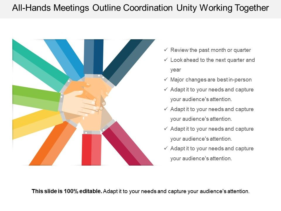 All Hands Meetings Outline Coordination Unity Working Together