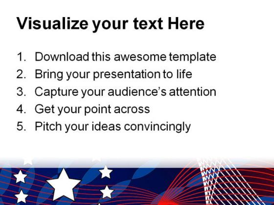 america flag star abstract powerpoint template 1110 powerpoint
