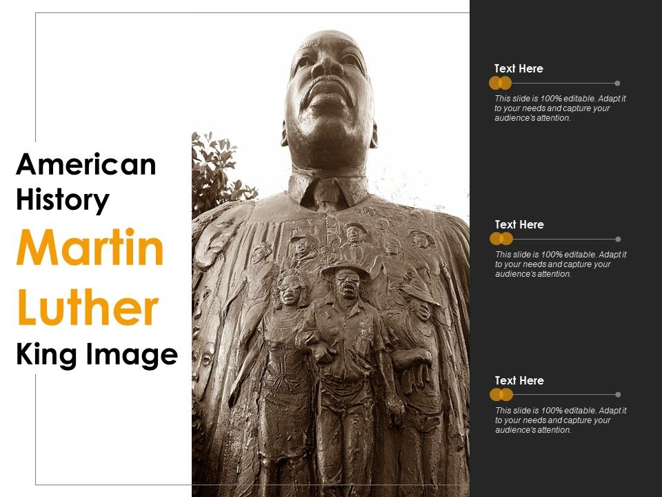 American History Martin Luther King Image Powerpoint