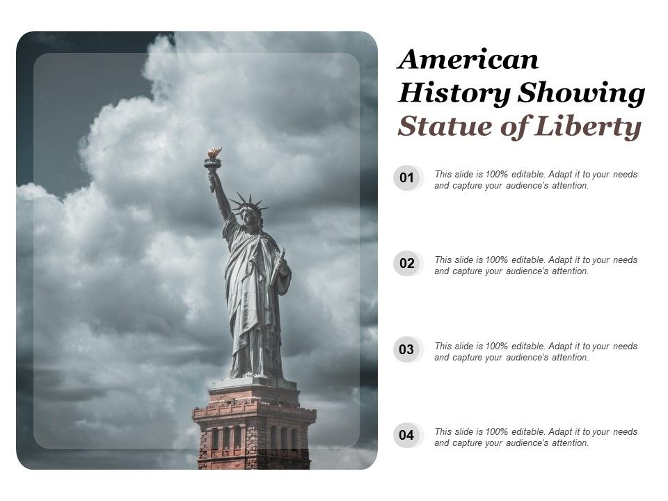 american history showing statue of liberty powerpoint presentation