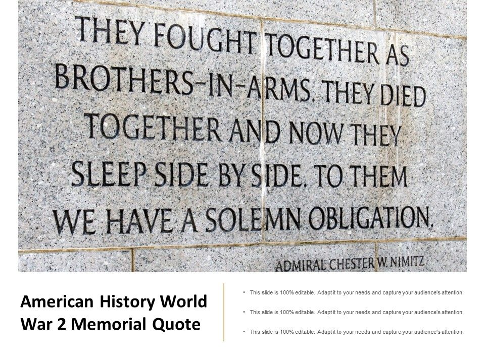 American History World War 2 Memorial Quote Powerpoint