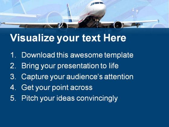 americana airplane transportation powerpoint templates and, Modern powerpoint