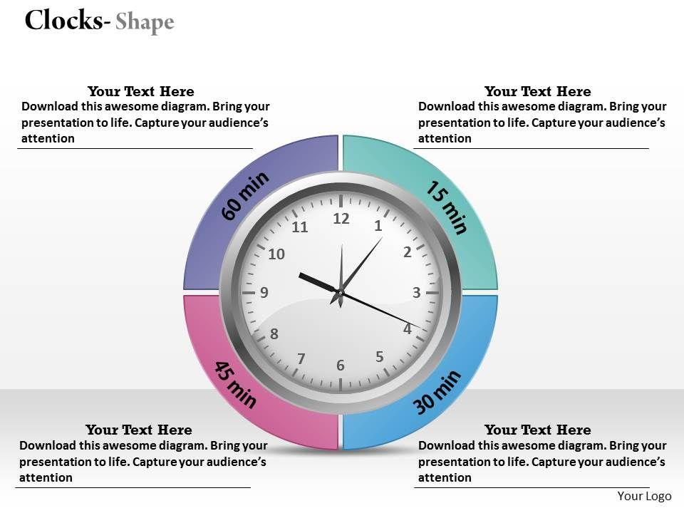 analog clock powerpoint template slide