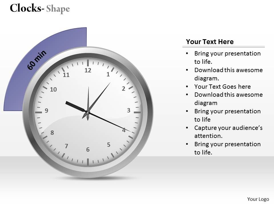 Analog Clock Powerpoint Template Slide | PowerPoint