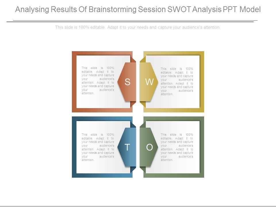 Analysing results of brainstorming session swot analysis ppt model analysingresultsofbrainstormingsessionswotanalysispptmodelslide01 analysingresultsofbrainstormingsessionswotanalysispptmodelslide02 ccuart Choice Image