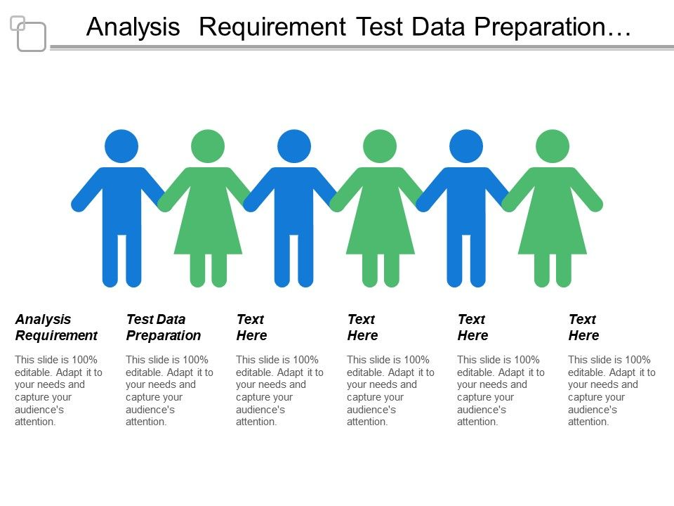 Analysis Requirement Test Data Preparation Functional Level